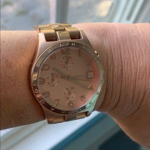Marc Jacobs rose gold tone watch.